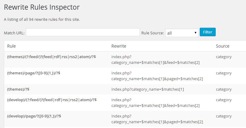 WordPress 查看网站的所有伪静态 Rewrite 规则